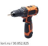 Купить «Cordless drill screw gun», фото № 30852825, снято 24 мая 2019 г. (c) Мельников Дмитрий / Фотобанк Лори