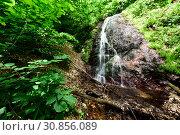 Водопад на притоке реки Сибирь, Алыгея. Стоковое фото, фотограф Оглоблин Андрей Николаевич / Фотобанк Лори