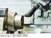 Купить «Cnc machine center for metal processing industry. Metalworking», фото № 30860589, снято 27 мая 2019 г. (c) Дмитрий Калиновский / Фотобанк Лори