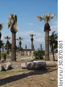 Ruins of ancient city of Hierapolis. Pamukkale. Turkey. (2015 год). Стоковое фото, фотограф Анна Иноземцева / Фотобанк Лори