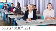 Купить «Students at extension courses», фото № 30871281, снято 8 мая 2018 г. (c) Яков Филимонов / Фотобанк Лори