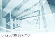 Купить «Abstract digital interior background», иллюстрация № 30887713 (c) EugeneSergeev / Фотобанк Лори