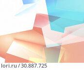 Abstract colorful low poly 3d art. Стоковая иллюстрация, иллюстратор EugeneSergeev / Фотобанк Лори