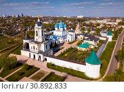 Купить «Aerial view of Vysotsky monastery in Serpukhov city, Russia», фото № 30892833, снято 1 мая 2019 г. (c) Яков Филимонов / Фотобанк Лори