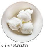 Top view of lemon sorbet. Стоковое фото, фотограф Яков Филимонов / Фотобанк Лори