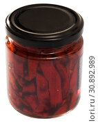 Купить «Canned roasted sweet peppers», фото № 30892989, снято 25 июня 2019 г. (c) Яков Филимонов / Фотобанк Лори