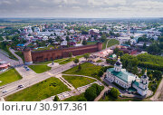 Picturesque view from height of the Kolomna Kremlin. Kolomna city. Russia (2019 год). Стоковое фото, фотограф Яков Филимонов / Фотобанк Лори