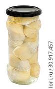 Купить «Jar of marinated artichokes», фото № 30917457, снято 20 июня 2019 г. (c) Яков Филимонов / Фотобанк Лори