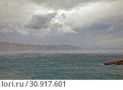 Живописное небо и Адриатическое море. Хорватия (2019 год). Стоковое фото, фотограф Сергей Афанасьев / Фотобанк Лори