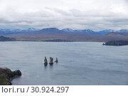 Скалы Три Брата в Авачинской бухте. Камчатка. (2019 год). Стоковое фото, фотограф syngach / Фотобанк Лори
