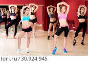 Купить «Active females dancing excited posing», фото № 30924945, снято 31 мая 2017 г. (c) Яков Филимонов / Фотобанк Лори