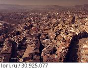 Купить «Panorama of historical area of Vic», фото № 30925077, снято 25 февраля 2018 г. (c) Яков Филимонов / Фотобанк Лори