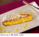 Купить «Almond pie Tarta de Santiago», фото № 30925133, снято 24 июля 2019 г. (c) Яков Филимонов / Фотобанк Лори