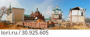 Купить «Восстановление исторического облика Саровского монастыря», фото № 30925605, снято 28 апреля 2019 г. (c) Ельцов Владимир / Фотобанк Лори