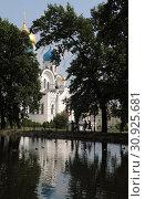 Купить «Николо-Угрешский монастырь, Спасо-Преображенский собор и монастырский пруд. Город Дзержинский, Московская область», эксклюзивное фото № 30925681, снято 9 июня 2019 г. (c) Дмитрий Неумоин / Фотобанк Лори