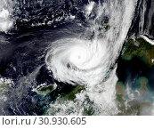 Купить «Typhoon over planet Earth - satellite photo. Elements of this image furnished by NASA.», фото № 30930605, снято 28 января 2020 г. (c) easy Fotostock / Фотобанк Лори