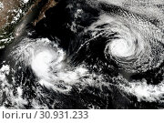 Купить «Cyclone over planet Earth. Elements of this image are furnished by NASA.», фото № 30931233, снято 28 января 2020 г. (c) easy Fotostock / Фотобанк Лори