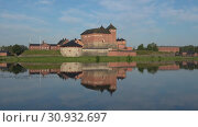 Купить «Озеро Ванаявеси со старинной крепостью Хамеенлинна июльским днем. Финляндия», видеоролик № 30932697, снято 24 июля 2018 г. (c) Виктор Карасев / Фотобанк Лори