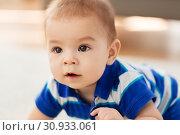 Купить «close up of sweet little asian baby boy», фото № 30933061, снято 5 мая 2018 г. (c) Syda Productions / Фотобанк Лори