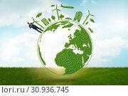 Купить «Concept of clean energy and environmental protection», фото № 30936745, снято 25 января 2020 г. (c) Elnur / Фотобанк Лори
