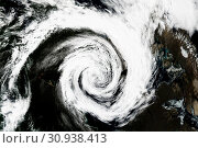 Купить «Cyclone - view from space. Elements of this image are furnished by NASA.», фото № 30938413, снято 28 января 2020 г. (c) easy Fotostock / Фотобанк Лори
