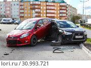 Car crash (2019 год). Редакционное фото, фотограф Art Konovalov / Фотобанк Лори
