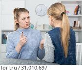 Купить «Woman scolding her daughter», фото № 31010697, снято 22 января 2019 г. (c) Яков Филимонов / Фотобанк Лори