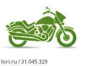 Купить «Green environmentally friendly vehicle concept - 3d rendering», фото № 31045329, снято 18 августа 2019 г. (c) Elnur / Фотобанк Лори
