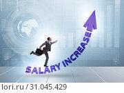 Купить «Employee in salary increase concept», фото № 31045429, снято 29 мая 2020 г. (c) Elnur / Фотобанк Лори
