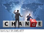 Купить «Businessman taking chance for change», фото № 31045477, снято 13 декабря 2019 г. (c) Elnur / Фотобанк Лори