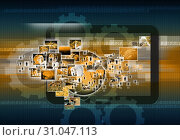 Купить «Television and internet production.technology and business concept», фото № 31047113, снято 13 декабря 2012 г. (c) easy Fotostock / Фотобанк Лори
