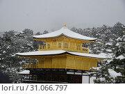 Купить «Kyoto Golden Temple with snow», фото № 31066797, снято 15 января 2017 г. (c) easy Fotostock / Фотобанк Лори
