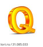 Character Q on white background. Isolated 3D illustration. Стоковая иллюстрация, иллюстратор Ильин Сергей / Фотобанк Лори