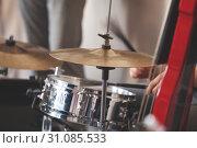Купить «Live music background, drum set», фото № 31085533, снято 18 мая 2019 г. (c) EugeneSergeev / Фотобанк Лори