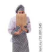 Купить «Male cook isolated on the white background», фото № 31091545, снято 6 июля 2017 г. (c) Elnur / Фотобанк Лори