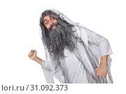 Купить «Funny old man isolated on white», фото № 31092373, снято 13 января 2014 г. (c) Elnur / Фотобанк Лори