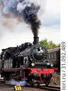 Historische Dampflokomotive, Dampflok-Tage, Eisenbahnmuseum Dahlhausen, Bochum, Ruhrgebiet, Nordrhein-Westfalen, Deutschland, Europa. Стоковое фото, фотограф Zoonar.com/Stefan Ziese / age Fotostock / Фотобанк Лори