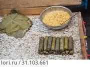 Купить «Stuffed grape leaves in Turkish style cooking», фото № 31103661, снято 6 февраля 2017 г. (c) easy Fotostock / Фотобанк Лори