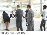 Купить «Group of diverse business people queuing up for interview», фото № 31109197, снято 21 марта 2019 г. (c) Wavebreak Media / Фотобанк Лори