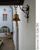 Купить «Bell hanging on wall», фото № 31124781, снято 28 сентября 2017 г. (c) easy Fotostock / Фотобанк Лори