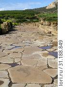 Купить «Tarifa (Cádiz) Spain. Street inside the archaeological site of Baelo Claudia.», фото № 31188849, снято 7 февраля 2009 г. (c) age Fotostock / Фотобанк Лори