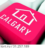 Купить «Calgary Real Estate Keyboard Shows Property For Sale Or Rent In Alberta. Investment Agents Or Brokers Symbol 3d Illustration», фото № 31257189, снято 3 января 2012 г. (c) easy Fotostock / Фотобанк Лори