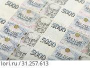 Купить «Background from czech thousand banknotes, money business banking concept», фото № 31257613, снято 22 сентября 2016 г. (c) easy Fotostock / Фотобанк Лори