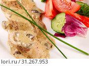 Купить «Roulade of chicken breast in mushroom sauce», фото № 31267953, снято 2 апреля 2014 г. (c) easy Fotostock / Фотобанк Лори