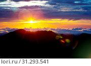 Купить «Sunset on Mauna Kea,Hawaii», фото № 31293541, снято 25 апреля 2011 г. (c) easy Fotostock / Фотобанк Лори