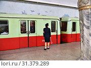 Купить «Pyongyang, North Korea. Metro station», фото № 31379289, снято 1 мая 2019 г. (c) Знаменский Олег / Фотобанк Лори