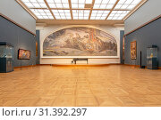The State Tretyakov Gallery-- is an art gallery in Moscow, Russia, the foremost depository of Russian fine art in the world. Gallery's history starts in 1856. Hall of artist V.Vasnetsov. Collection - 130,000 exhibits (2019 год). Редакционное фото, фотограф Владимир Журавлев / Фотобанк Лори