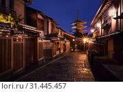 Купить «Yasaka-no-to Pagoda also known as Hokan-ji Temple at night, Higashiyama district, Kyoto, Japan», фото № 31445457, снято 9 ноября 2018 г. (c) easy Fotostock / Фотобанк Лори