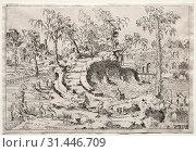 Купить «Landscapes: Landscape with Putti, c. 1550. Léon Davent (French). Etching, sheet: 17 x 24.8 cm (6 11/16 x 9 3/4 in.), platemark: 16.6 x 24.1 cm (6 9/16 x 9 1/2 in.)», фото № 31446709, снято 14 февраля 2019 г. (c) age Fotostock / Фотобанк Лори