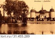 Ponds in Landkreis Meißen, Moritzburg Castle, 1902, Landkreis Meißen, Moritzburg, Jagdschloß mit Schloßteich, Germany (2019 год). Редакционное фото, фотограф Liszt Collection / age Fotostock / Фотобанк Лори